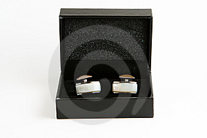 Elegant Cufflinks In A Box Stock Photography - Image: 14358792