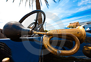Old Style Horn Trumpet Stock Photography - Image: 14359672