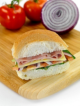Ham And Salad Roll Stock Photos - Image: 14360473