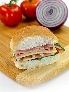 Ham And Salad Roll Stock Photos - Image: 14360473