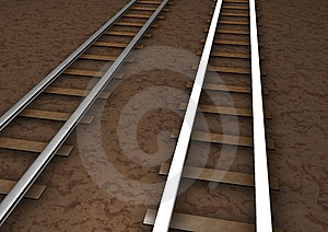 Rail Tracks Royalty Free Stock Images - Image: 14360979