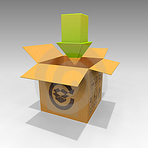 Cardboard Box Arrow 1.0 Stock Photos - Image: 14362433