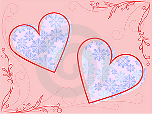 Frame With Hearts Royalty Free Stock Photos - Image: 14366518