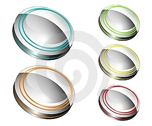 Metallic Buttons Royalty Free Stock Images - Image: 14368619
