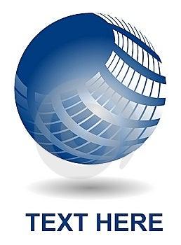 Shiny Blue Ball Stock Photos - Image: 14368623