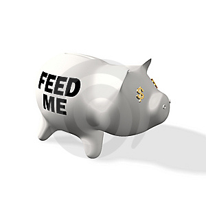 Feed The Piggy Royalty Free Stock Images - Image: 14369069