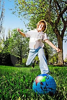 Boy On Walk Royalty Free Stock Image - Image: 14369756