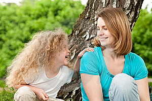 Happy Mother With Her Daughter Stock Photos - Image: 14369783