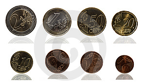 Euro Cent Series Stock Photography - Image: 14369942