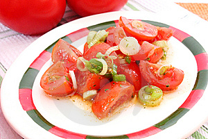 Salad Of Tomatoes Royalty Free Stock Images - Image: 14370159