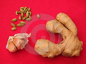 Food On A Red Tablecloth Stock Photos - Image: 14372013