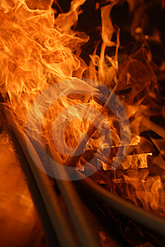 Candles In A Blaze Stock Images - Image: 14372264