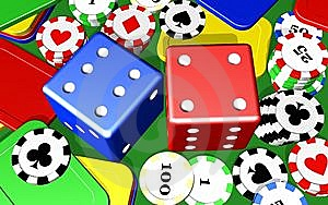 Gambling Casino Elements Royalty Free Stock Photos - Image: 14373168