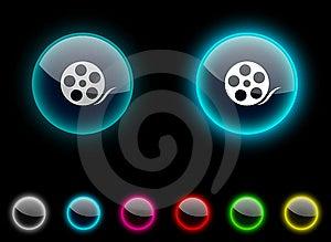 Media Button. Stock Photos - Image: 14374743