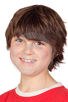 Funny Portrait Of Freckled Boy Stock Photos - Image: 14375133