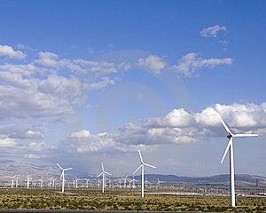 Desert Windmills Royalty Free Stock Photo - Image: 14375175