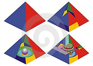 Pyramid Real And Impossible Visual Math Royalty Free Stock Image - Image: 14375766
