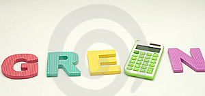 Green Calculator Royalty Free Stock Images - Image: 14377419