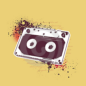 Grunge Audio Tape Stock Photography - Image: 14378552