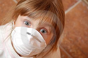 Child With Medical Mask Royalty Free Stock Photos - Image: 14379298