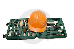 Box For Tools A Helmet Royalty Free Stock Photos - Image: 14380308