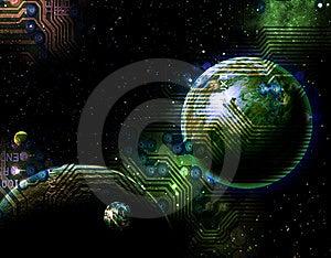 Digital World Royalty Free Stock Photography - Image: 14381527
