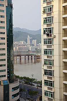Buildings Beside River Stock Images - Image: 14384924