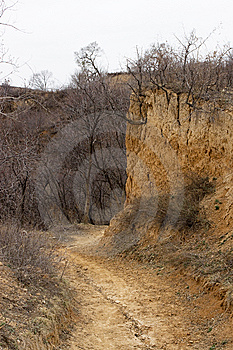 Shanxi Loess Plateau Road Royalty Free Stock Photography - Image: 14385267