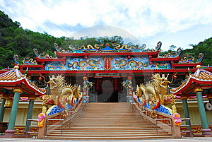 Chinese Temple Stock Image - Image: 14385981