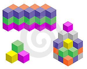 Multicolored  Figures Royalty Free Stock Image - Image: 14386666