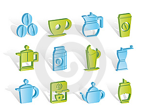 Coffee Industry Signs And Icons Royalty Free Stock Image - Image: 14389856