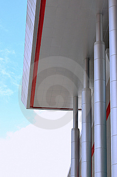 Roof And Pole Of Moder Building Stock Photo - Image: 14390030