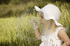 Blowing Bubbles Royalty Free Stock Photography - Image: 14390057