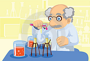 Experimenting With Chemicals Royalty Free Stock Photo - Image: 14390275