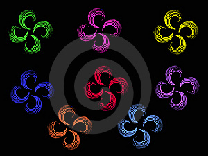 Twirl Multicolor Flowers Royalty Free Stock Photography - Image: 14390617