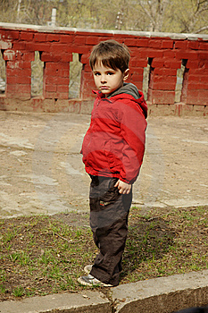 Serious Little Boy Royalty Free Stock Photography - Image: 14390787