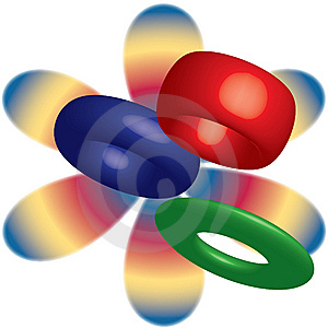 Retro Bakelite Bracelets 3D Illustration Stock Photography - Image: 14391612