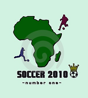 African Continent And A Football Player Stock Image - Image: 14392761