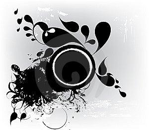 Banner In Dark Grunge Circle Stock Images - Image: 14393484
