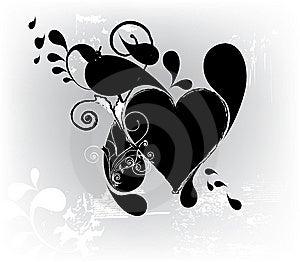Grungy Heart Royalty Free Stock Photos - Image: 14393648