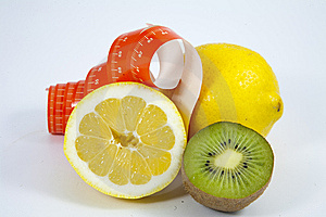 Lemon Kiwi  Meter Stock Photos - Image: 14394063