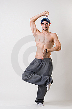 Handsome Young Dancer Concentrated Royalty Free Stock Photography - Image: 14394357