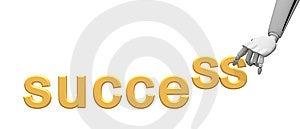 Budowy Ręki Mechaniczny Sukcesu Słowo Zdjęcie Royalty Free - Obraz: 14397015