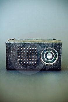 Vintage Radio On Gray Grunge Background Royalty Free Stock Image - Image: 14397086