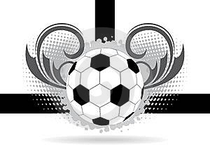 Abstract Football Background With Space For Text Royalty Free Stock Images - Image: 14397369