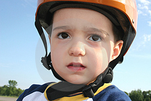 Toddler In Helmet Stock Image - Image: 1440481