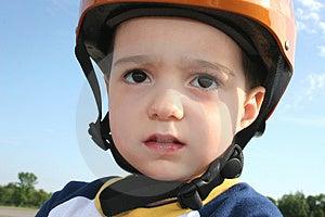 Toddler In Helmet Stock Image - Image: 1440481