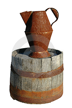 Rusty Pitcher And Barrel Royalty Free Stock Photos - Image: 1440598