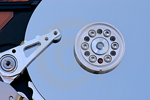 Hard Disk Drive Macro Royalty Free Stock Photography - Image: 1441437