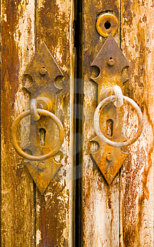Age-Old Door Stock Image